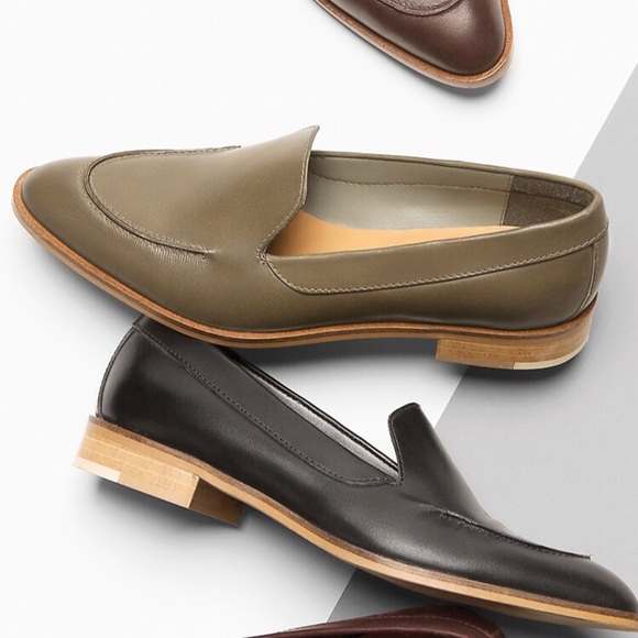 Everlane ◈ The Modern Loafer ◈ Olive Leather ◈